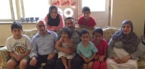 The Syrian family the DJC is sponsoring with their grandparents.